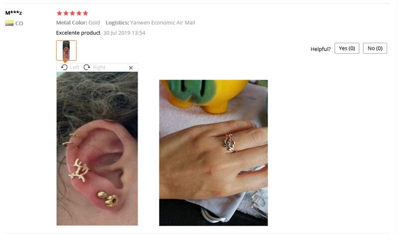 1 Pc Sliver Goud Kleur Leaf Shapeno Piercing Earcuffs Clip Punk Oor Manchet Oorbellen Oorbellen Voor Vrouwen Clips Sieraden Oor klimmer