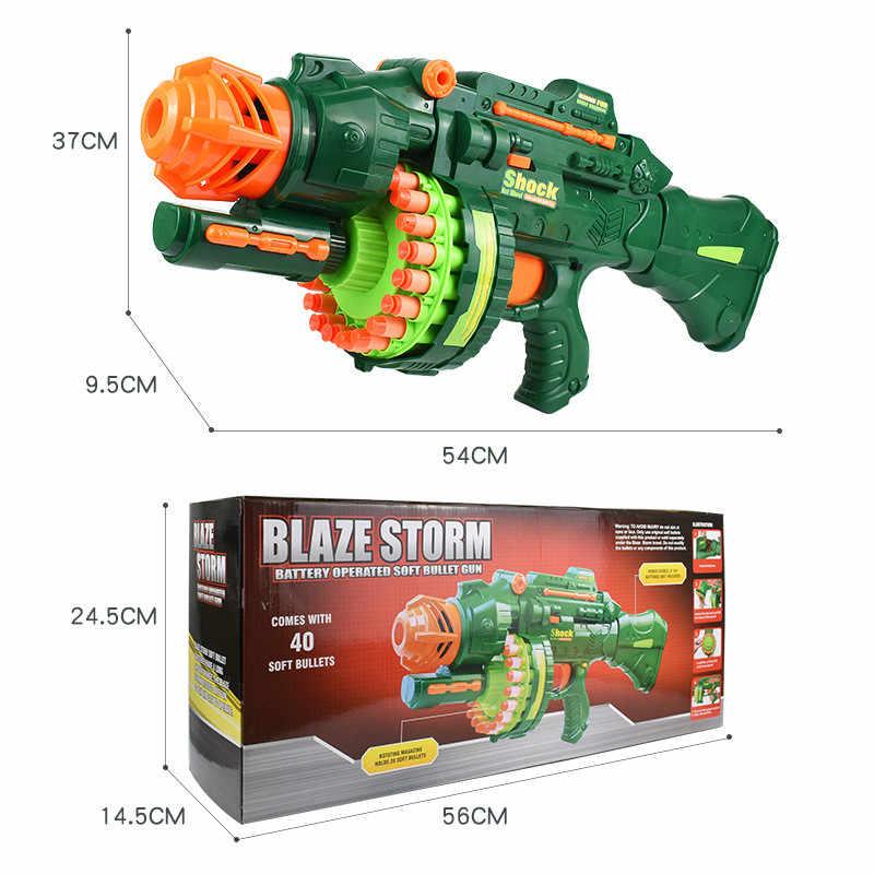 البنادق الكهربائية لعبة من البلاستيك مرنة لينة أطلقت الرصاص لمحاربة 20 رشقات نارية من قناص الوالدين والطفل حقل بندقية لعب للأطفال