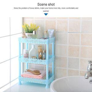 3-х уровневый Пластик Сделай Сам стеллаж для хранения Ванная комната полка для дома Кухня Гостиная Организатор