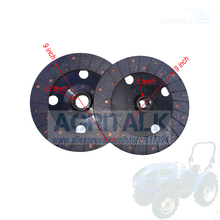 Jeu de disques dembrayage (principal et auxiliaire) pour tracteur Fengshou Lenar 254 274, référence: 250.21.013 + 250.21.015