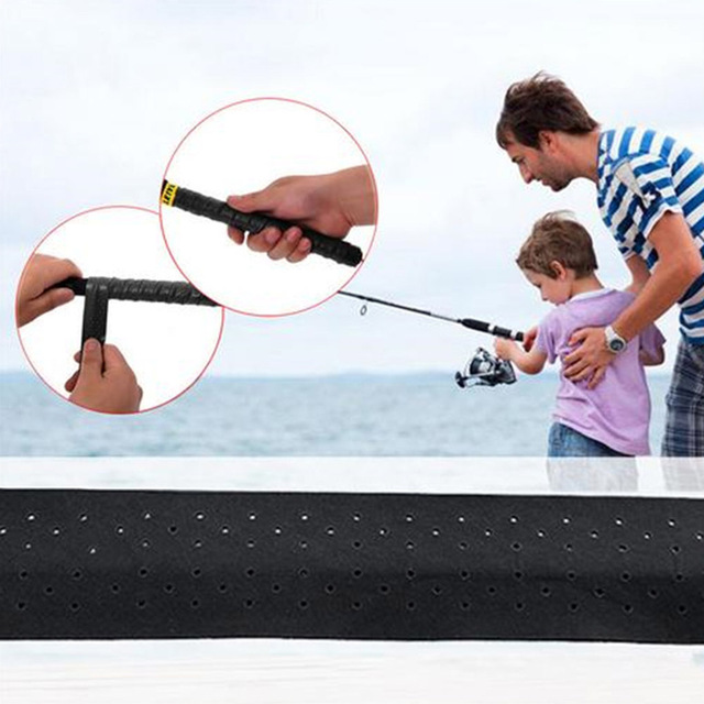 Fishing Rod Handle Wraps Anti-slip Sweat Absorbent Wrapping Belt Fishing Rod Grip Non-slip Tape