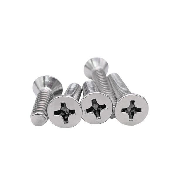 """2#-56 phillips countersunk screws flat head bolts full thread male screw stailess steel UNC fine pitch 5/32""""-1"""" length 100pcs"""