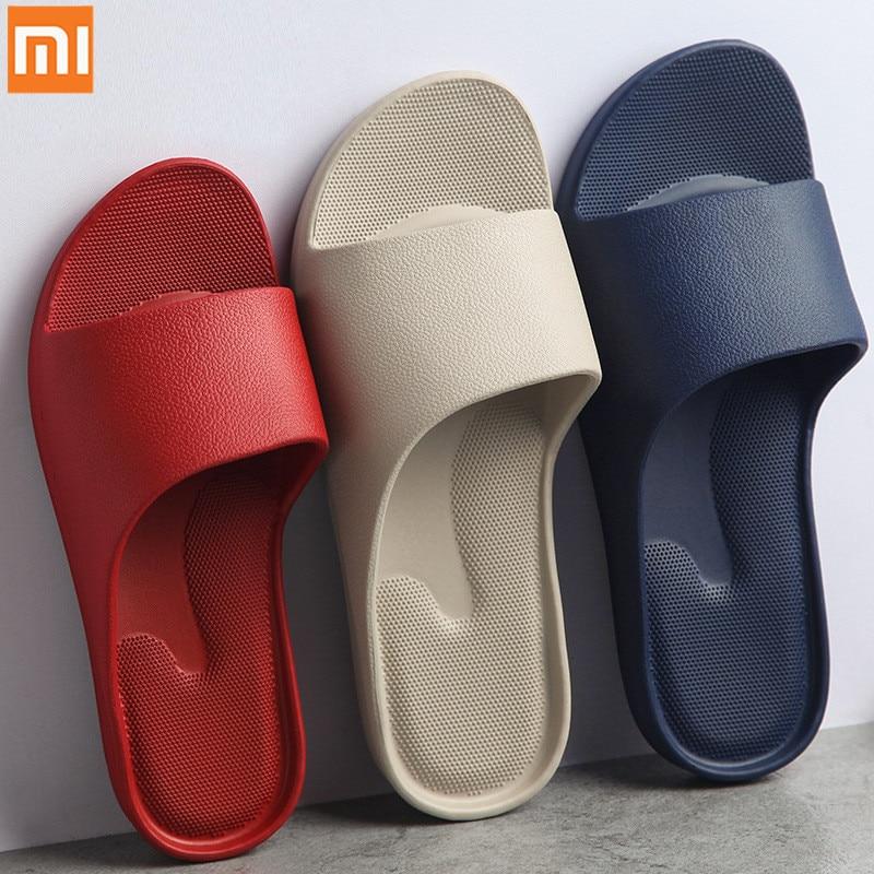 NEW XiaoMi Mijia Fashion Sandals Non-slip Wear-resistant EVA Thick Bottom Comfortable Home Slippers Bathroom Bath Men and Women(China)