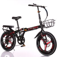 Children's folding bicycle primary school children's men's and women's speed bicycle 16 20 inch ultra light portable mini
