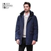 Blackleopardwolf New Winter Jacket Men's Fashion Coat High Quality Parker Coat Zip Down BL 1052