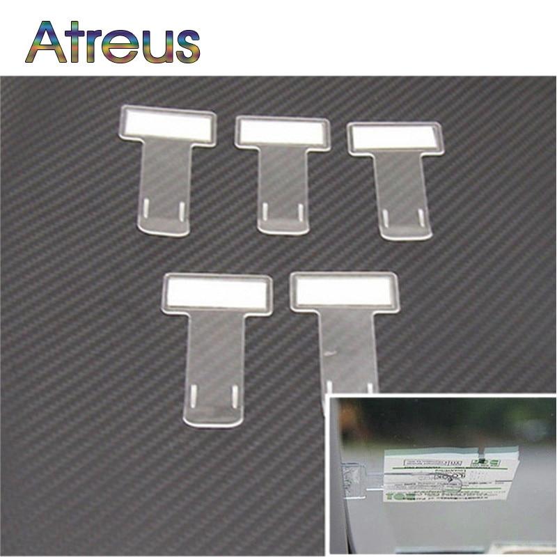 Car Stickers Mini Transparent Ticket Folder For Honda Civic Accord CRV Fit Peugeot 307 206 308 407 508 208 406 2008 3008 2017