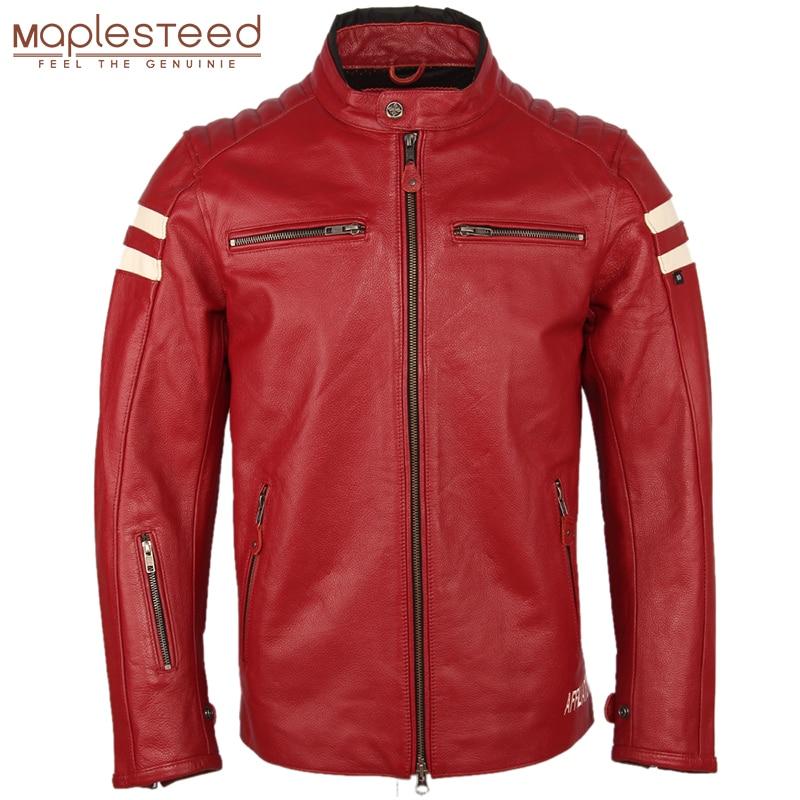 Motorcycle Leather Jacket Men 100% Genuine Cowhide Leather Natrual Skin Coat Men Slim Fit Bomber Biker Leather Coat Autumn M218