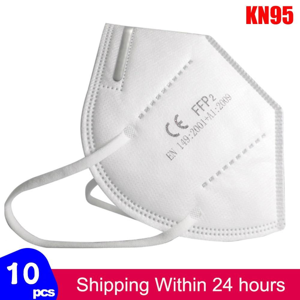 Fast Delivery Face Mask KN95 Mask Ffp2 Dustproof KN95 Masks Filter Filtration Protective Dust Mouth Mask
