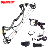 Archery Pure Carbon Fiber Compound Bow Set Predator 2 Generation 50 65lbs Compound Bow 5 Pins Bow Sight for Hunting Accessories