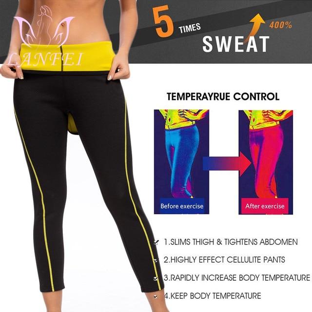 LANFEI Neoprene Waist Trainer Belt Women High Waist Legging Shaper Pants Sauna Slimming Sweat  Gym Capris Hot Thermo Sweat Pant 1