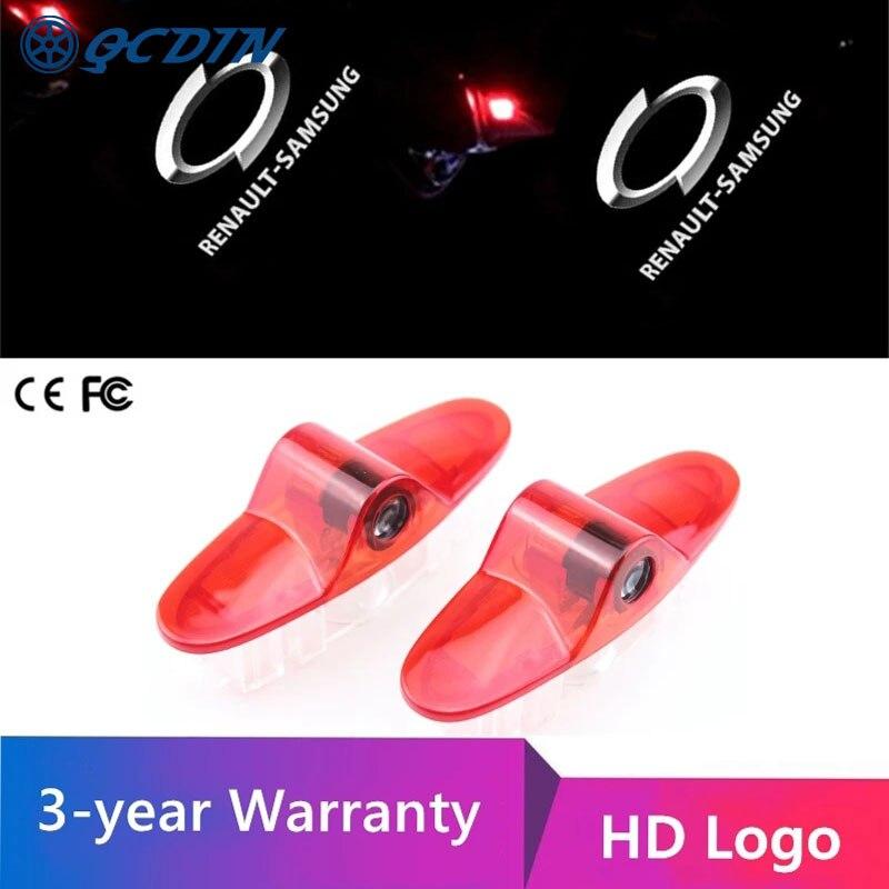 Купить qcdin для renault samsung hd светодиодные дверные огни логотип