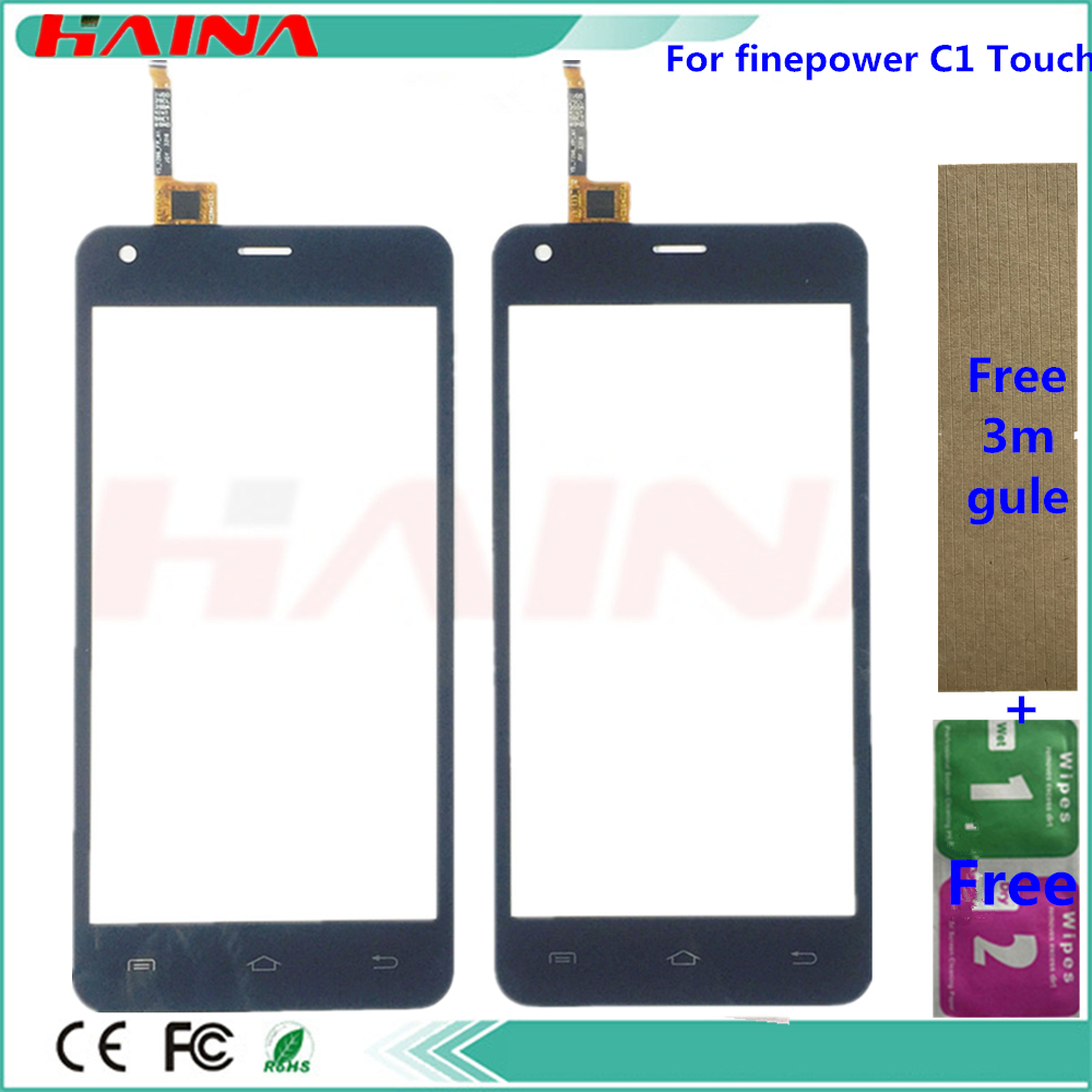 Phone Sensor Touchscreen For Finepower C1 Touch Screen Digitizer Front Glass Lens Panel Sensor With Tape