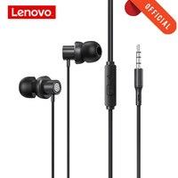Original Lenovo thinkplus tw13 Verdrahtete Kopfhörer Kopfhörer mit Mikrofon 3,5mm jack Ohr Handys auriculares fone de ouvido schwarz