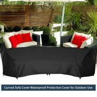 210D Curved Sofa Cover Set Waterproof Protective Cover For Living Room Corner Couch Cover Corner Sofa For Outdoor Use