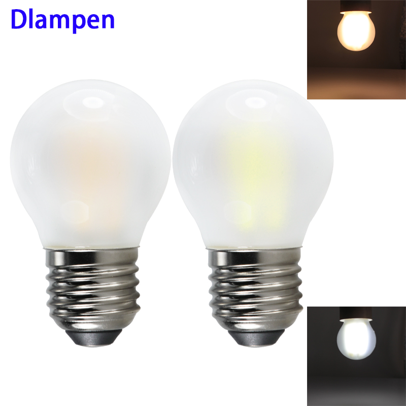 G45 Ampolletas Led Filament Dimmable Bulb Light E27 4W 6W 110v 220V Dimmer Frosted Glass Shell E 27 Spotlight Candle Edison Lamp