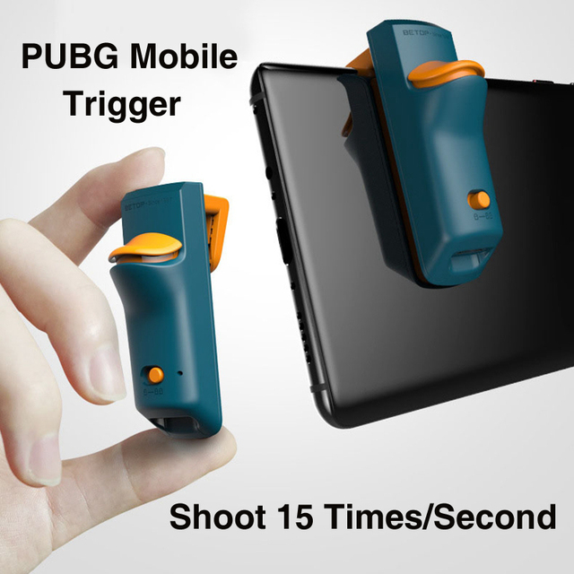 Betop J1 for PUBG Mobile Game 1s Shoot 15 Times Controller Joystick Shooter Button Trigger for iOS Android Phone Games Stinger