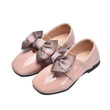 Pink Red Black Childrens Casual leather Shoes Girls Princess For wedding Party Student Single shoes chaussure fille 4-14T