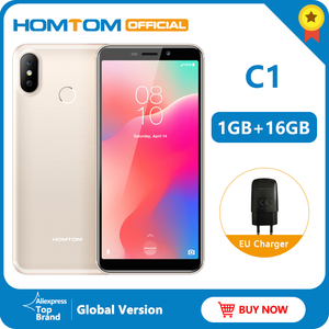 "Image 1 - Original version HOMTOM C1 16G ROM 5.5""Mobile Phone 13MP Camera Fingerprint 18:9 Display Android 8.1 MT6580A Unlock Smartphone"