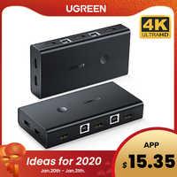 Ugreen HDMI KVM commutateur 2 ports 4K USB commutateur KVM VGA commutateur répartiteur boîte pour partager imprimante clavier souris KVM commutateur HDMI CGA