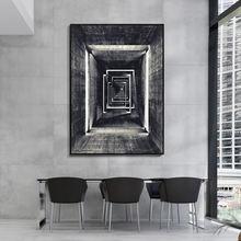 Скандинавские черно белые строительные геометрические коридорные