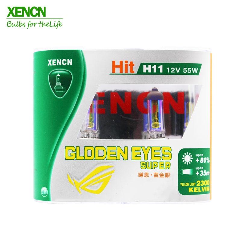 XENCN H11 12V 55W PGJ19-2 2300K Golden Eyes Super Yellow Light Halogen E1 DOT Car Bulbs Fog Lamp For Mercedes Toyata Honda 2Pos
