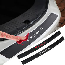 For Tesla model 3 Y Model S Model X Voiture Coffre Protection Bande Gomme Pare-chocs Anti-Collision Anti-rayures Hayon Carbon