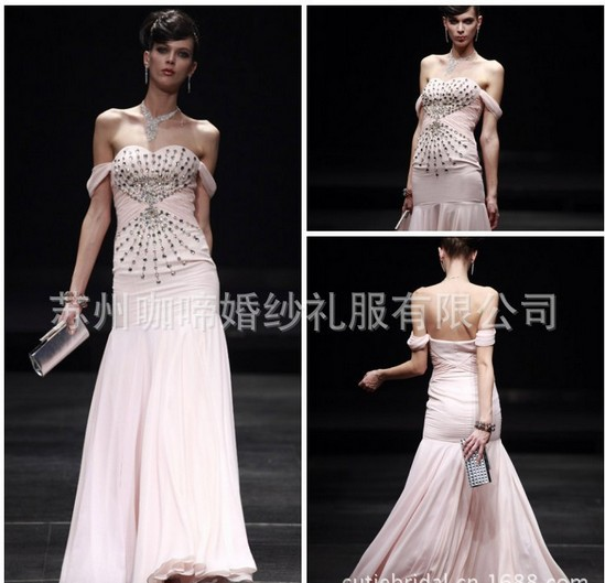 New Fashion Vestidos Formal Robe De Soiree Cap Sleeve Crystal Pink Long Elegant Party Gown Graduation Mother Of The Bride Dress
