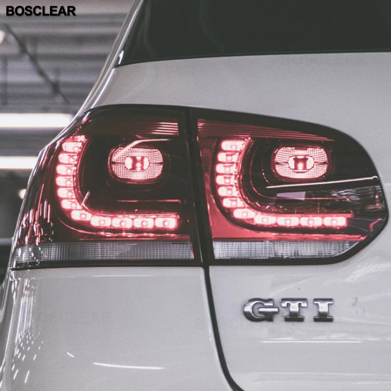 Car Styling led Tail light Accessories for VW <font><b>Golf</b></font> 6 LED Taillights 2009-2012 <font><b>Golf</b></font> mk6 Tail Lamp Rear Lamp DRL+Brake+Park+Signal image