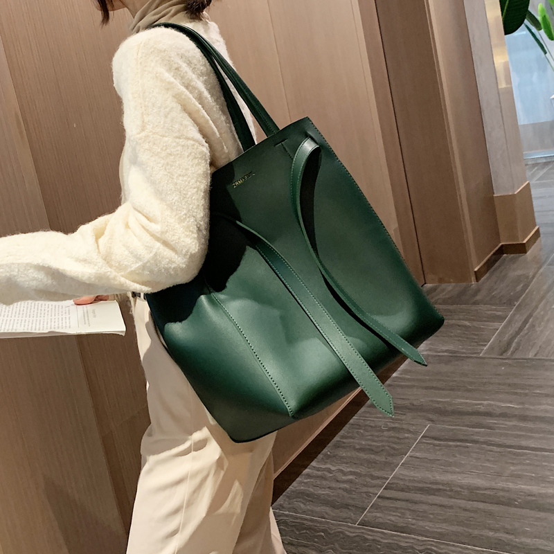 Casual Belts Women Shoulder Bags Large Capacity Totes Designer Drawstring Handbags Luxury Pu Leather Purse Lady Big Bucket Bag