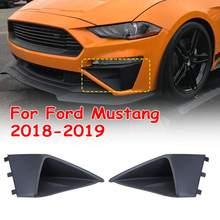 ABS черный передний бампер трехмерный воздухозаборник отделка панели декоративные пластины для Ford для Mustang