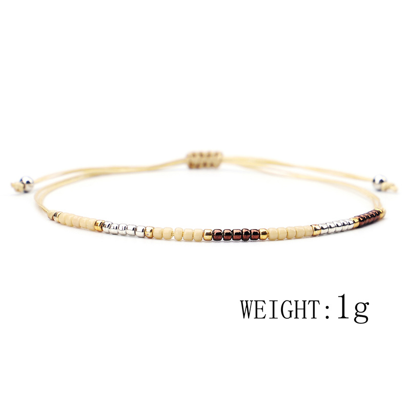 2019 Bohemia Handmade Weave Bijoux MIYUKI Bead Bracelet Love Lucky Bracelets & Bangles For Women Men Wax Thread Bracelets