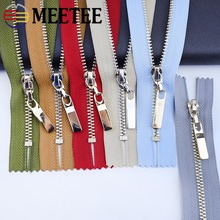 Meetee 3pcs 3# 20/25/30cm Metal Zipper Copper Tooth Closeend Zip Closure Clothes Jeans Pocket Zippers Bag Purse Repair Accessory