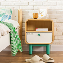 Bedside Cabinet Bedroom Wood Nordic Locker Creative Mini Children Simple