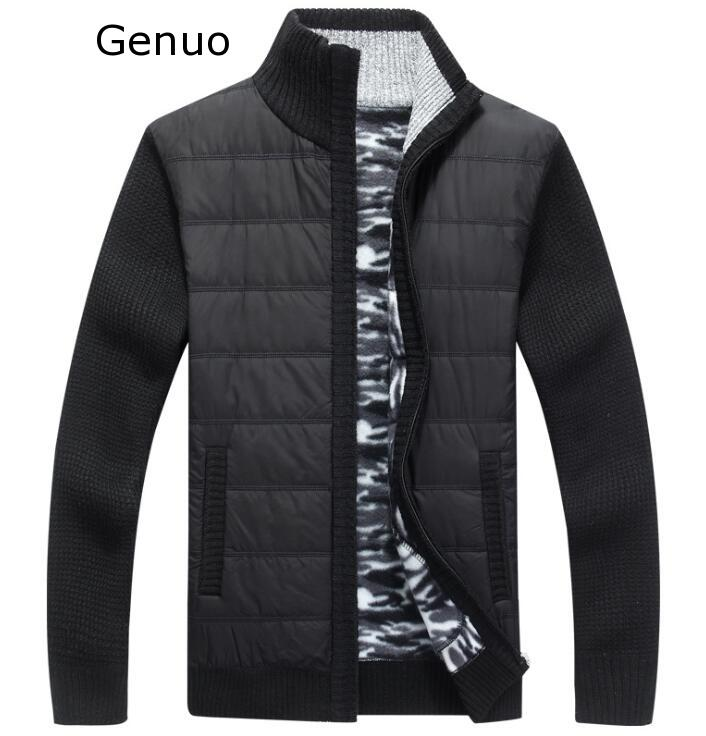 2020 Genuo New Arrival Autumn High Quality Casual Grey Sweater Men,men's Sweatercoat,plus-size M-XXXL