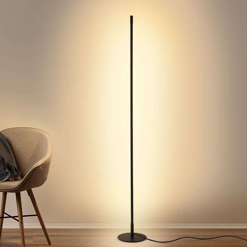 Modern Minimalist Floor Lamp LED Dimmable Floor Lights Nordic Living Room Bedroom Sofa Standing Lamp Indoor Decor Light Fixtures