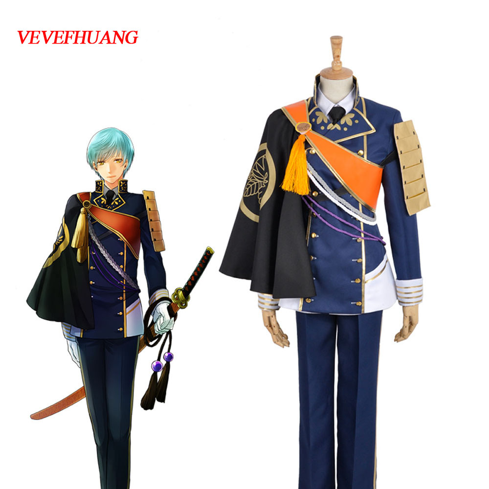 VEVEFHUANG Anime Touken Ranbu Cosplay Ichigo Hitofuri Outfit Costume Full Sets cool Uniform Cosplay Halloween Carnival Adult