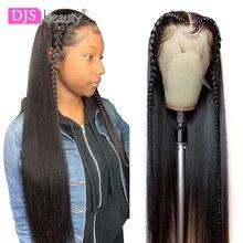 13 × 6 レースフロント人間の髪かつら 8 30 インチストレート人毛かつらの Remy 毛 180 密度レースフロントかつら黒人女性のための