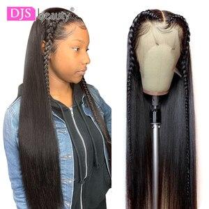 Image 1 - 13x6 תחרה מול שיער טבעי פאת 8 30 Inch ישר שיער טבעי פאות רמי שיער 180 צפיפות תחרה פרונטאלית פאות לנשים שחורות