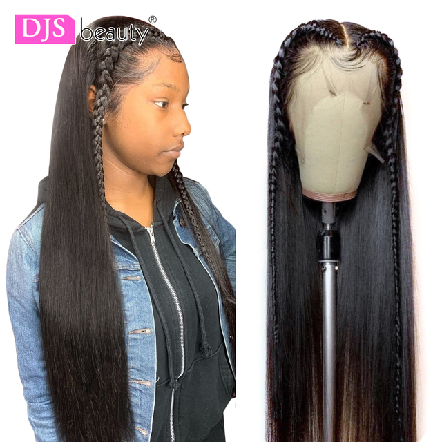 13x6 תחרה מול שיער טבעי פאת 8 30 Inch ישר שיער טבעי פאות רמי שיער 180 צפיפות תחרה פרונטאלית פאות לנשים שחורות