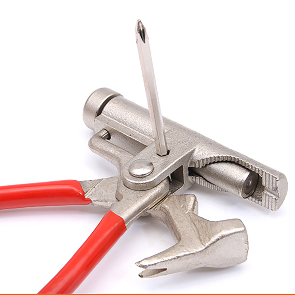 Multi-function Universal Hammer Screwdriver Electric Nail Gun Pipe Pliers Wrench Clamps Pincers Carpentry Fitter