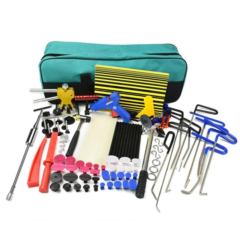Car Push Rods Paintless Hail Repair Glue Puller Removal Tools Dent Lifter Kits