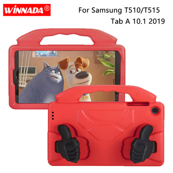 For tablet Samsung T510 Case Kids cover shock proof EVA foam Hand-held for Samsung Galaxy Tab A 10.1 2019 case SM-T510 / T515 tablet case for samsung galaxy tab a 10 1 inch 2019 t510 fundas shockproof eva safe kids cover for sm t510 t515 protective case