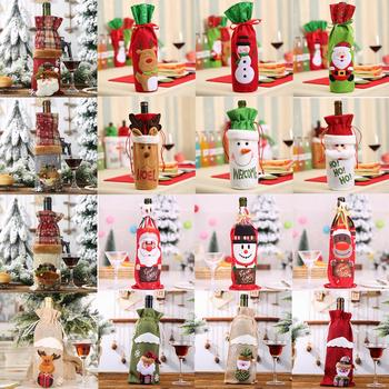 Luanqi Christmas Wine Bottle Cover Bag Noel Merry Christmas Decoration 2020 Xmas Gift Santa Claus Christmas Decoration Ornaments merry christmas decoration banner christmas tree ornaments xmas santa claus pendant christmas gift new year decoration for home