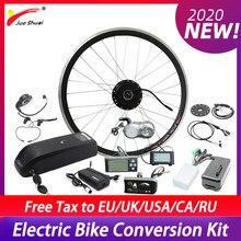 Kit de conversión de bicicleta eléctrica, cambio de buje sin escobillas, rueda frontal de Motor con batería, 36V, 250W, 350W, 500W