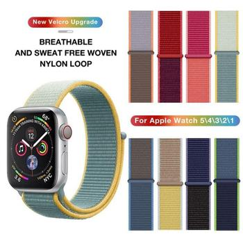 цена на 2020 Nylon Strap For Apple Watch Band Series 5 4 3 2 1 Soft Breathable Sport Loop for iWatch 42mm 44mm 38mm 40mm Watch Bracelet
