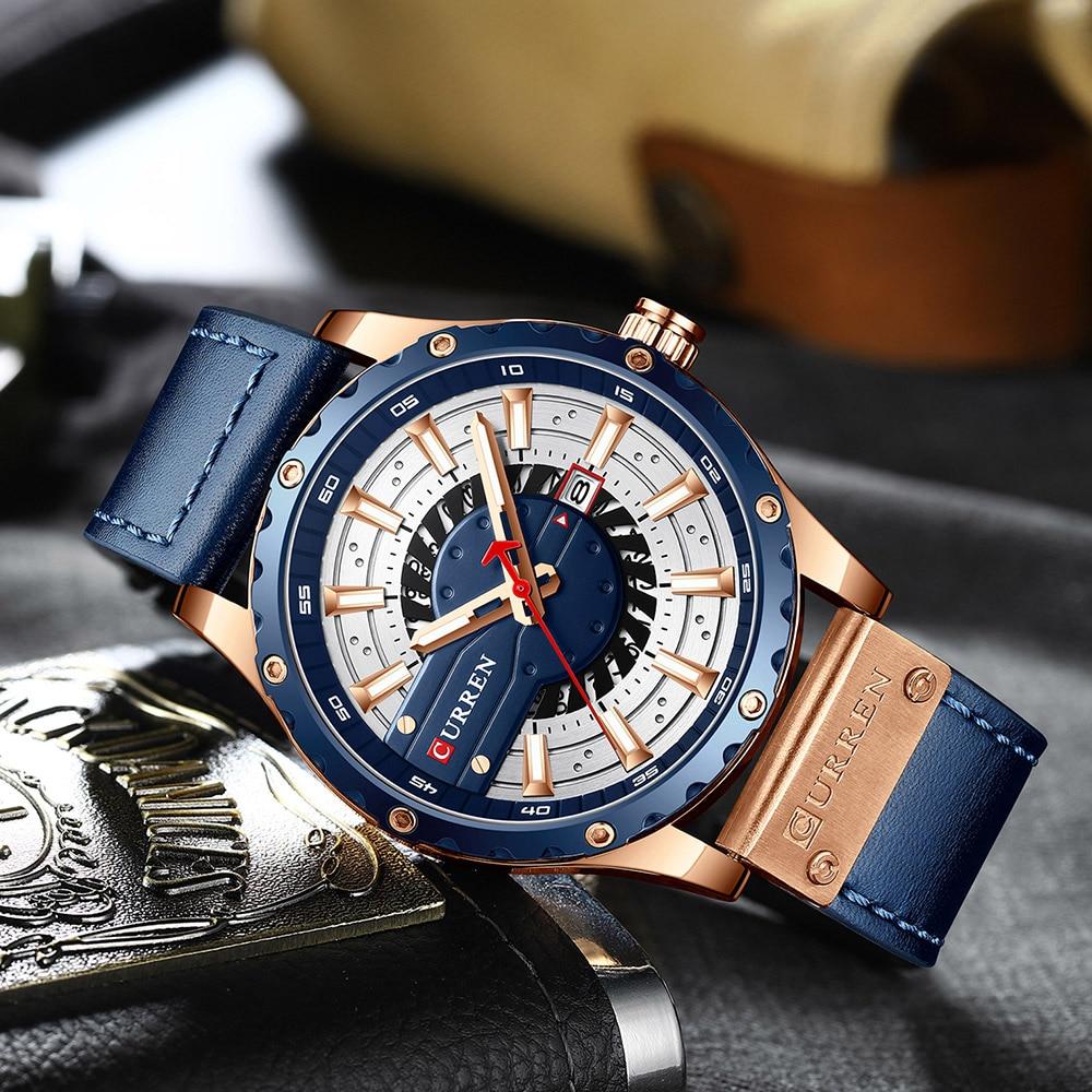 Hf4dab7e0eba4487a9a1640c9add45b4fh CURREN Watch Wristwatch  New Chic Luminous hands