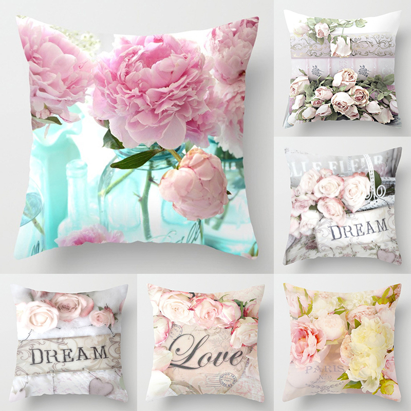 14 New Rose Mediterranean Pillow Case Nordic Sofa Bedside Cushion  Velvet Pillowcase Home Decor Cushion Cover  For Mothers' Day