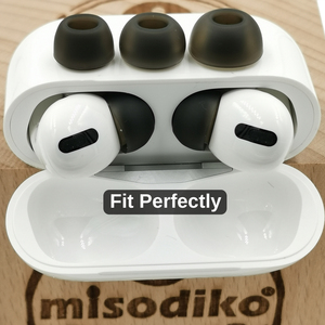 Image 5 - Misodiko Bequem Weichen Silikon Earbuds Ohr Tipps für Apple AirPods Air Schoten Pro, ersatz Kopfhörer Eartips (Transparent Schwarz)