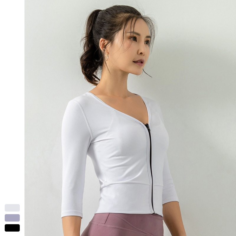 Куртки для бега на молнии женские рубашки тренажерного зала