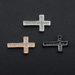 10x16mm 100% CZ Zircon DIY Jewelry Cross Bead Connectors Charm Wholesale Jewellery Connector OEM Order Accepted